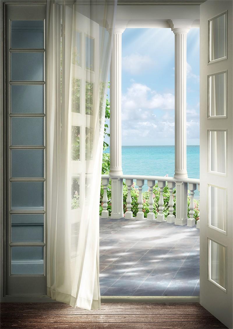 Фотообои выход на балкон - террасы, арки, окна, купить в инт.
